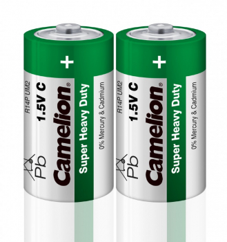 Элемент питания Camelion HEAVY DUTY Green R14/343 3800mAh 2S